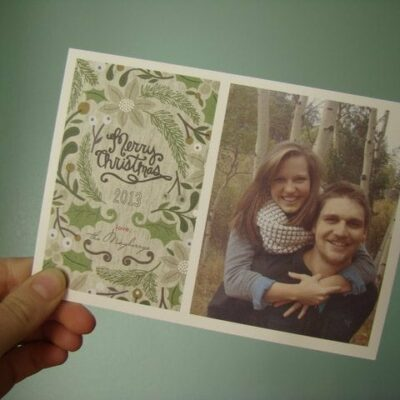minted petite Christmas cards