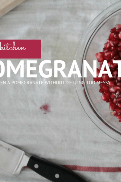 How To: Cut a Pomegranate