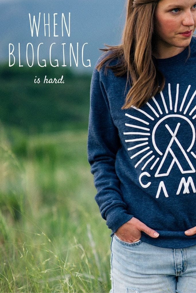 When blogging is hard - the hard part of blogging