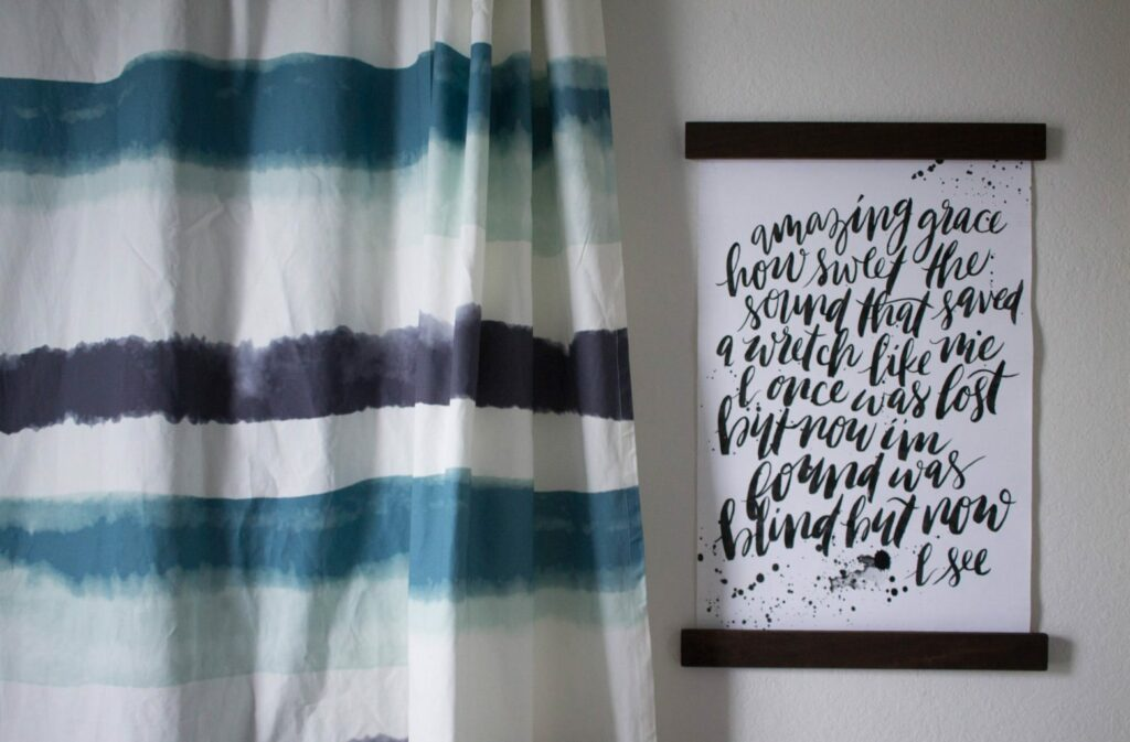 DIY Galvanized Pipe Curtain rods! I Love these so much - I've seen stuff like this at West Elm but this is cheaper and more personal! The Minted curtains add a great touch!