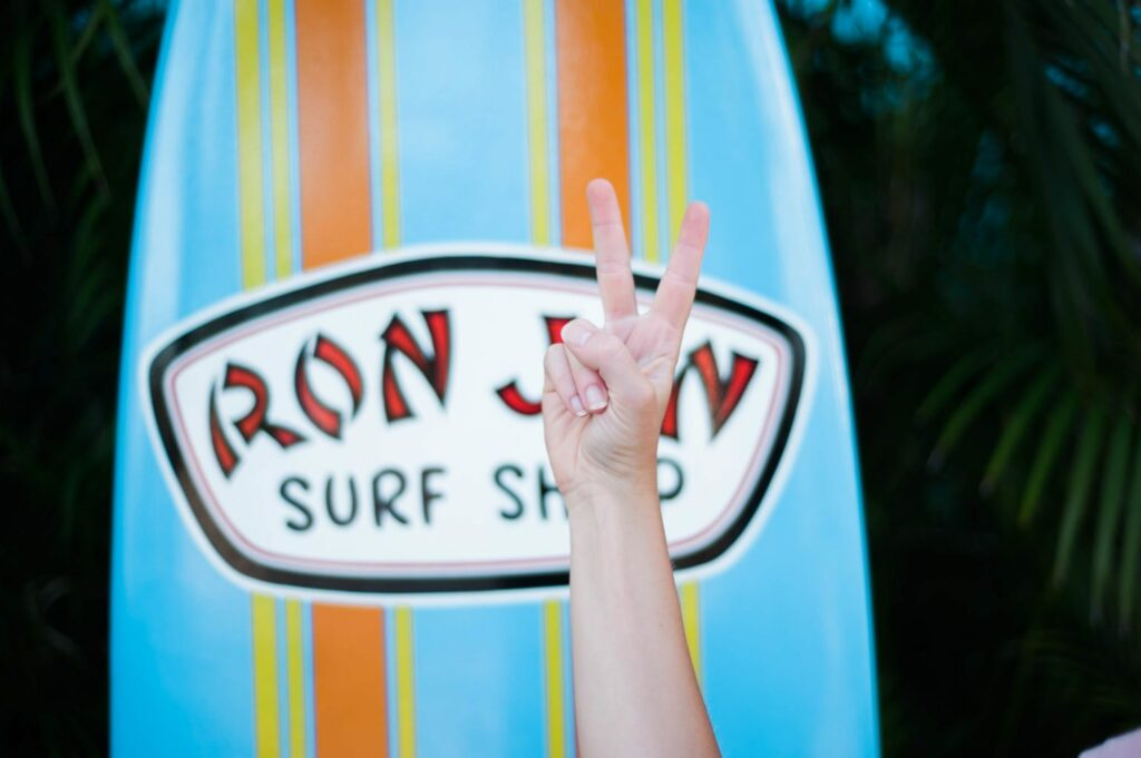 Rent bikes to ride in Cocoa Beach at Ron Jon - Surfs up!