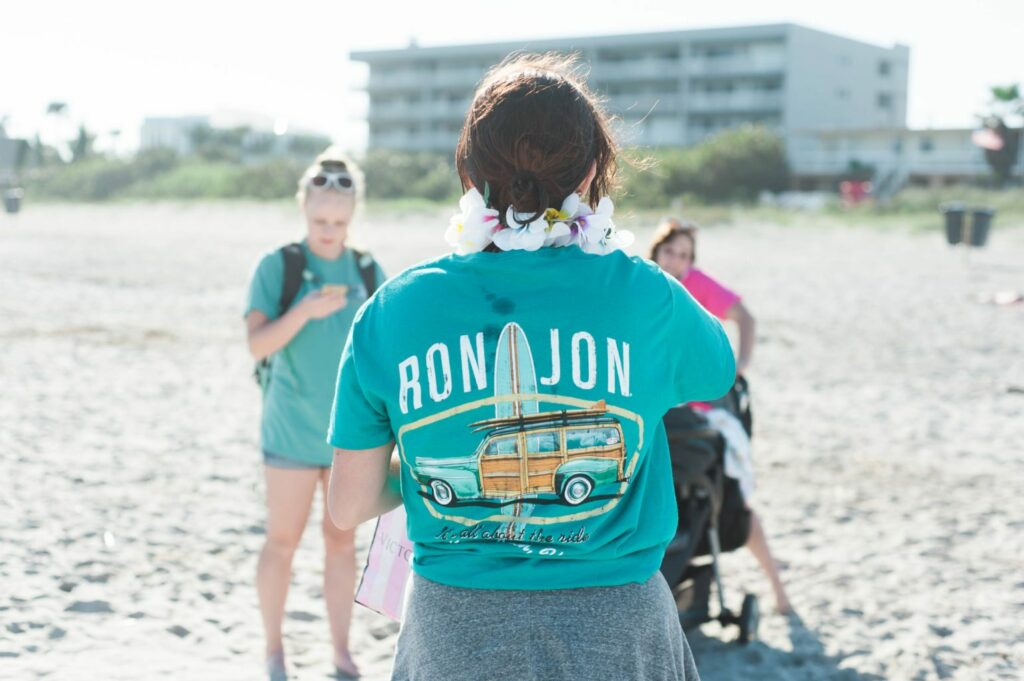 Beach Bachelorette Party - Matching Ron Jon Shirts and sunglasses!!