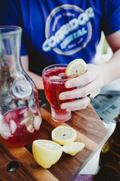Hibiscus Wine Spritzers for Summer