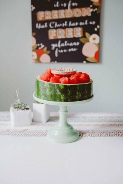 Fun & Simple Watermelon Display