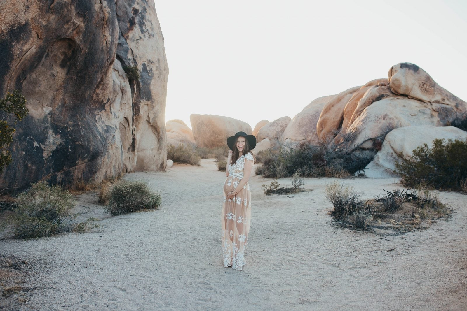 maternity photos in Joshua Tree