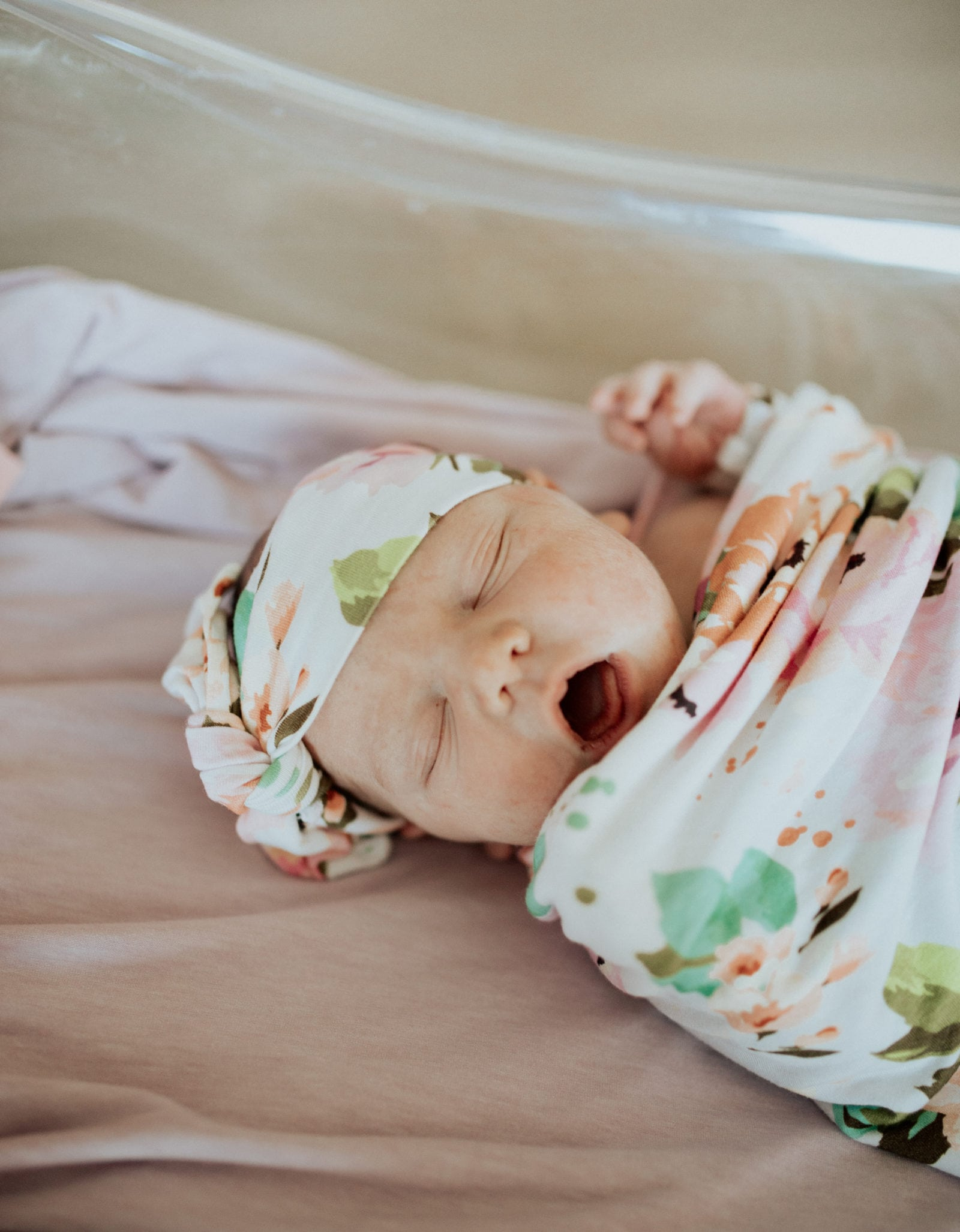 Baby's Outfit: Winter Peony Swaddle Set