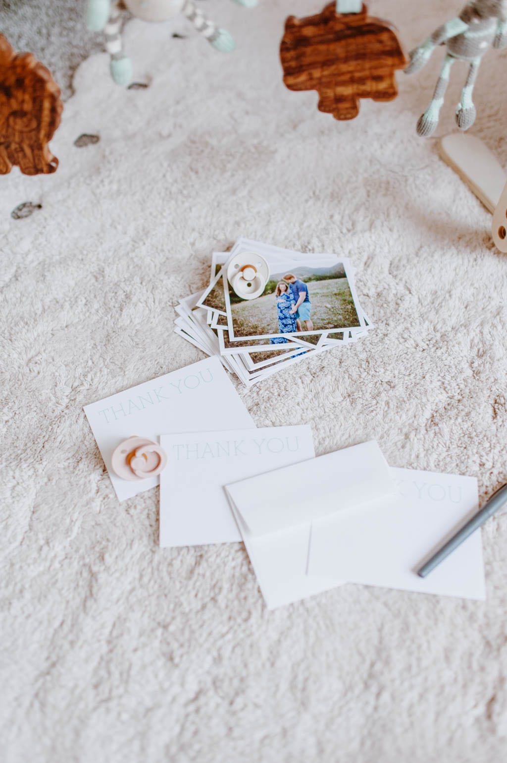 I created Thank You cards with Pinhole Press.