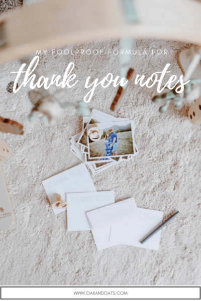 The Foolproof Thank-You Note Formula