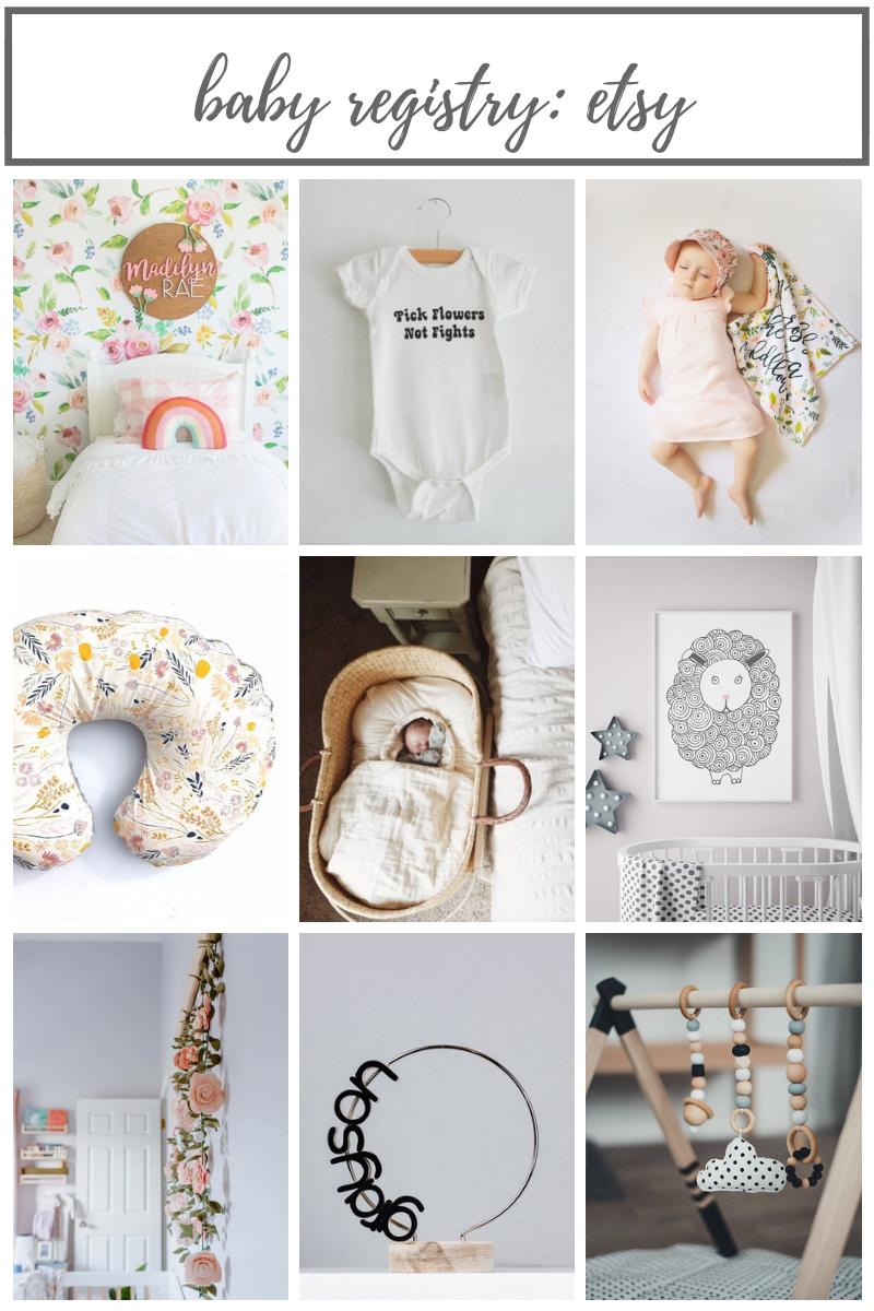 Etsy Items on my Baby Registry