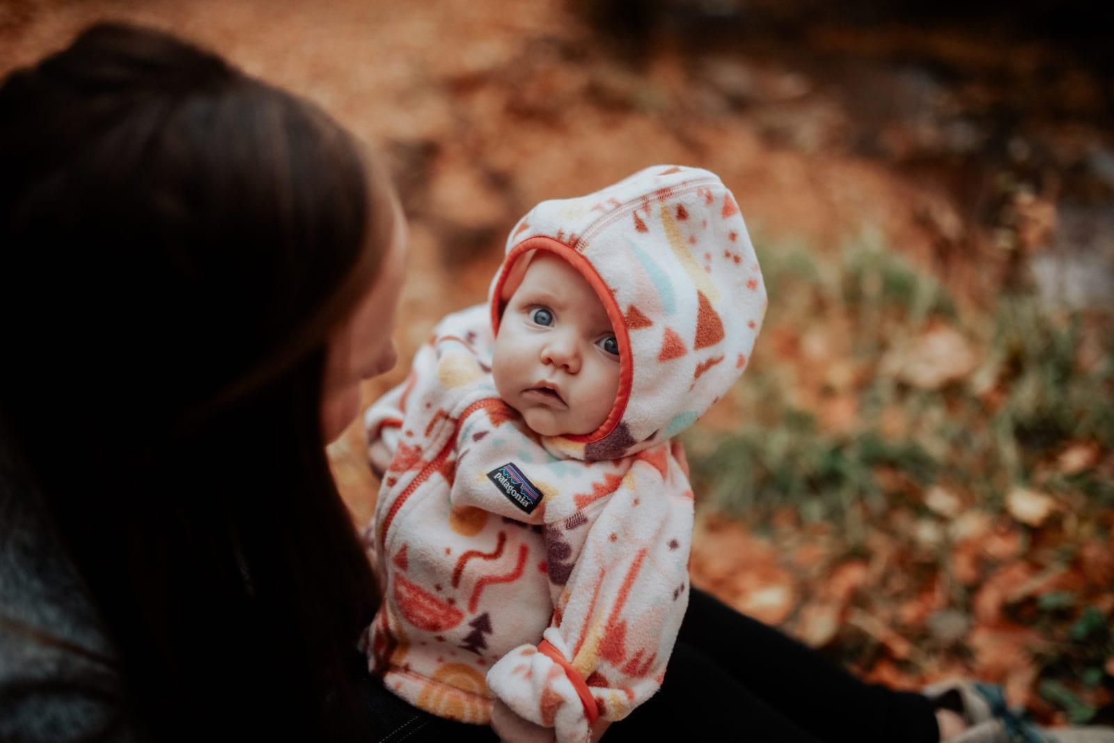 Baby Hilde is wearing Patagonia