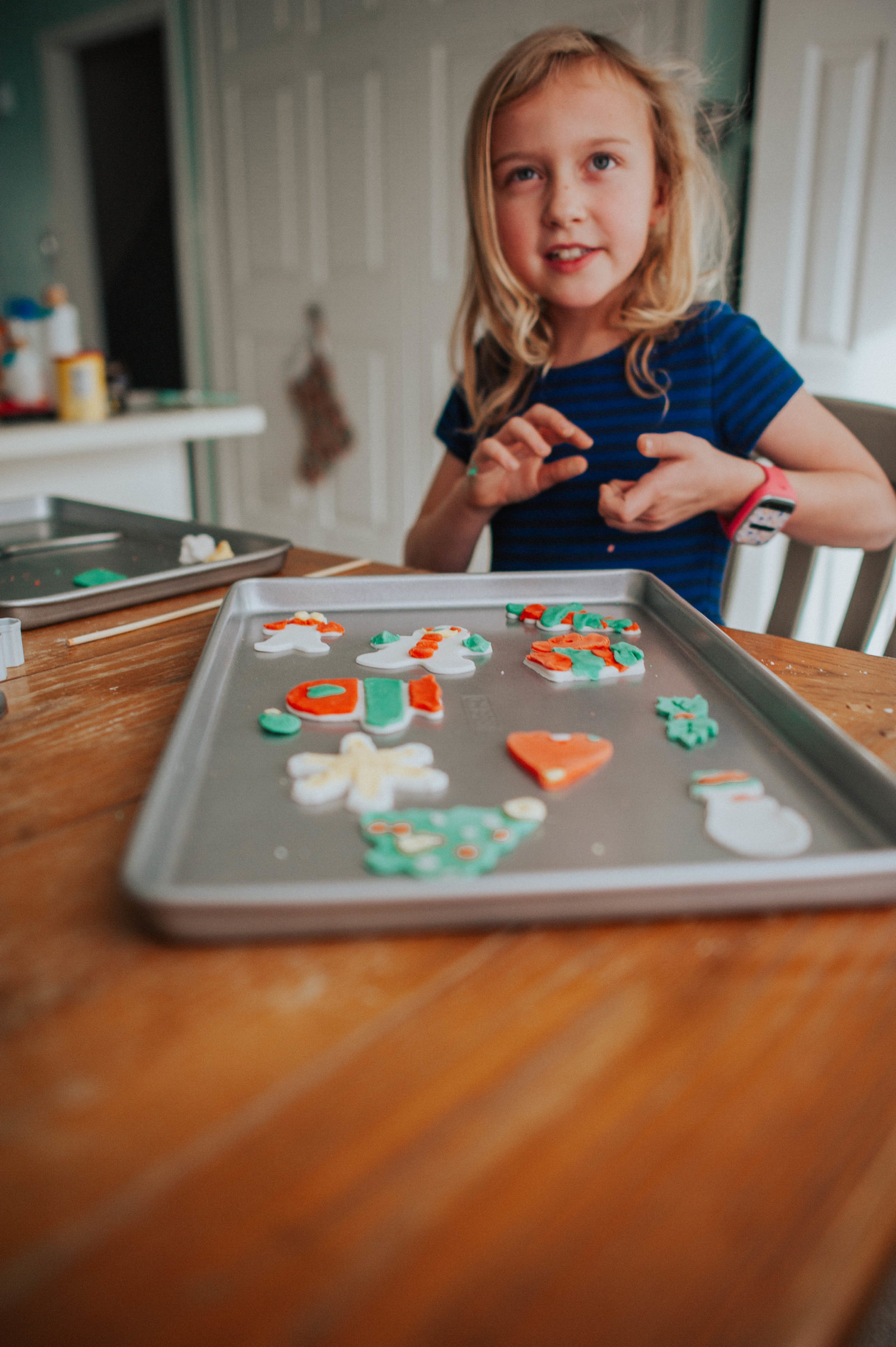 Homemade Clay Ornaments - Elsie