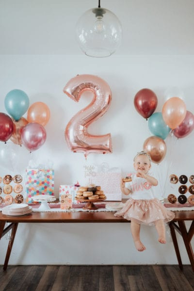 Donut themed Second Birthday Party