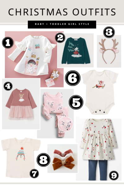 Christmas Outfits for baby + Toddler Girl