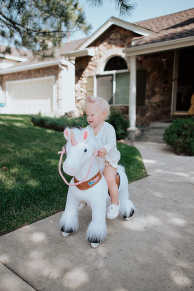 Riding on a PonyCycle